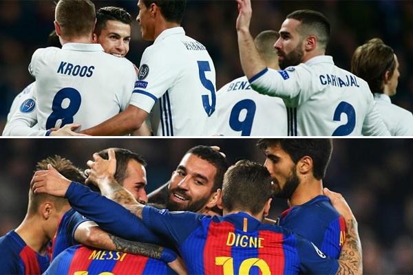 قطبا إسبانيا يحققان أعلى معدل تهديفي في مسابقة دوري أبطال أوروبا