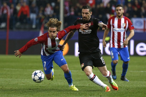 تعادل سلبي بين اتلتيكو مدريد وليفركوزن يؤهل الفريق الاسباني