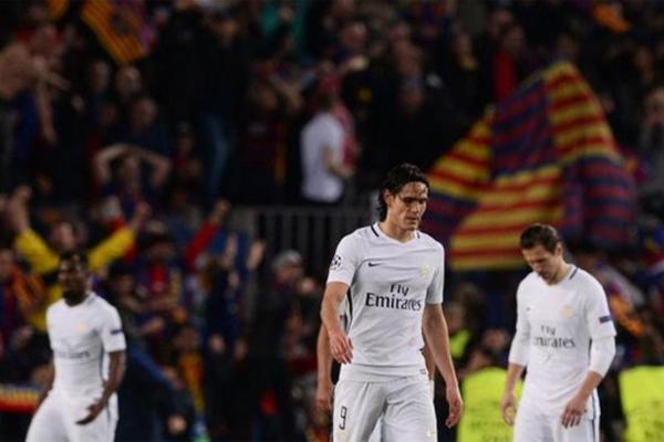 باريس سان جيرمان تلقى ثلاثة أهداف في الدقائق الأخيرة من مباراته أمام برشلونة يوم الأربعاء الماضي