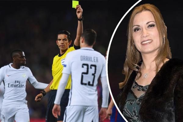 زوجة دي ماريا تتهم حكم المباراة بالرشوة