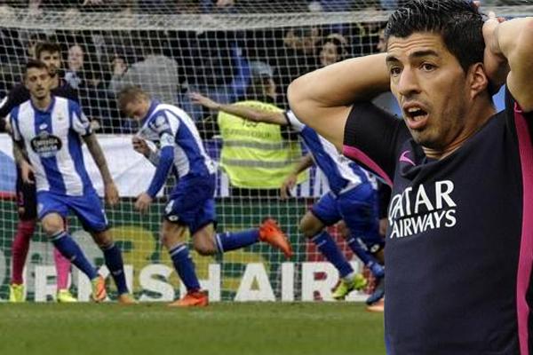 برشلونة يخسر لأول مرة رغم تسجيل سواريز هدفا