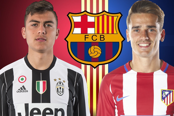 برشلونة يستهدف التعاقد مع الفرنسي أنطوان غريزمان والأرجنتيني ديبالا