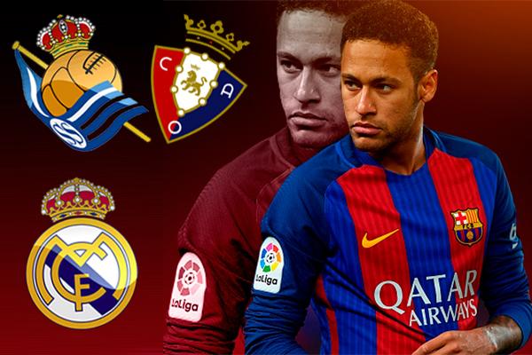 نيمار سيغيب عن برشلونة أمام ريال سوسيداد وريال مدريد و أوساسونا
