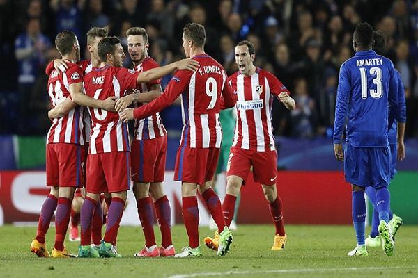 أتلتيكو مدريد ينهي مغامرة ليستر سيتي ويبلغ نصف النهائي