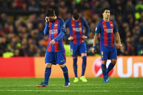 يدخل النادي الكاتالوني الى مواجهته مع ضيفه الإيطالي وهو مهدد بشكل كبير بالخروج من المسابقة القارية