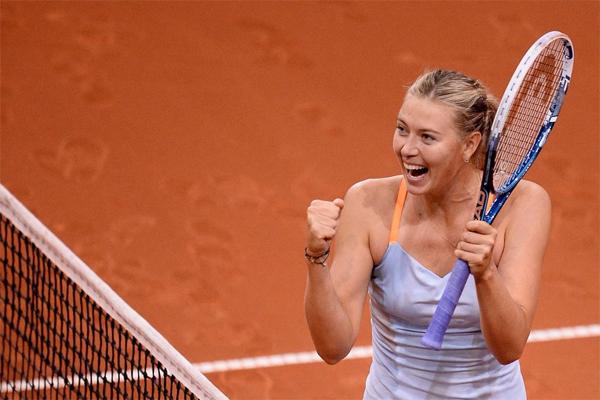 فازت الروسية ماريا شارابوفا على الاستونية أنيت كونتافيت