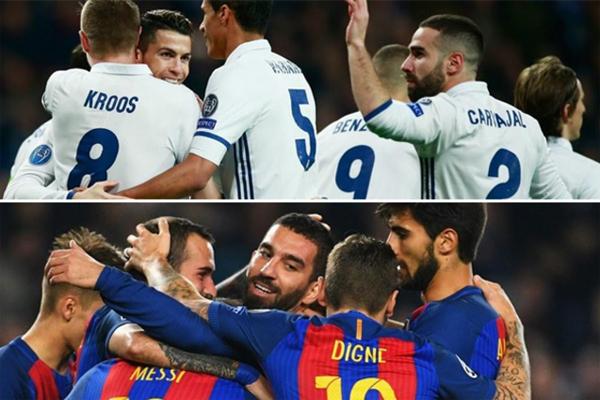 بحال نجح العملاقان بالفوز في كل مبارياتهما، سيضمن ريال احراز لقبه الأول في الدوري منذ 2012