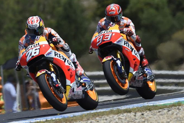 حقق الاسباني داني بدروزا (هوندا) فوزه الثالث في جائزة اسبانيا الكبرى