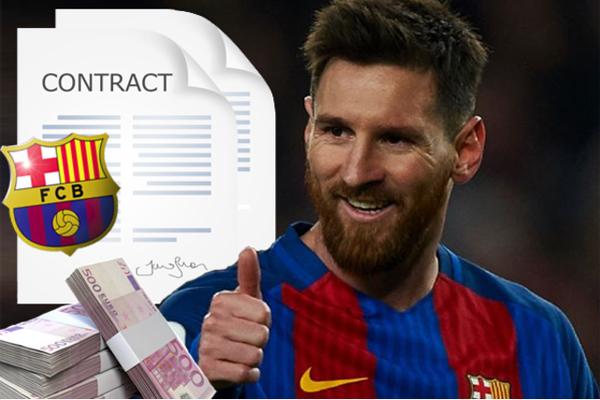 إدارة برشلونة اعلنت اتفاقها مع ميسي لتجديد عقجه
