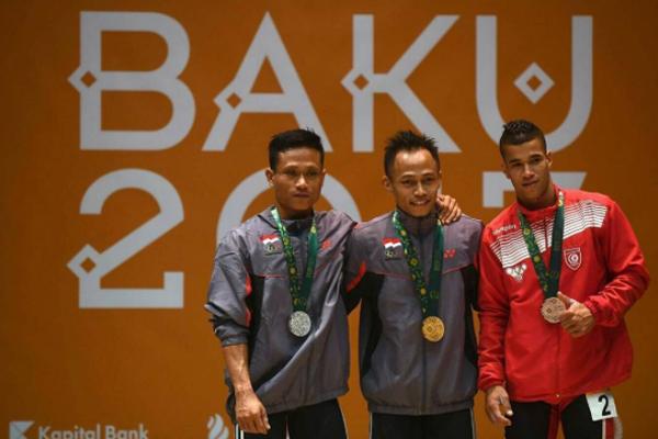 إنتزع التونسي أمين بو حجبة الميدالية البرونزية ضمن منافسات رفع الأثقال لوزن 56 كلغ