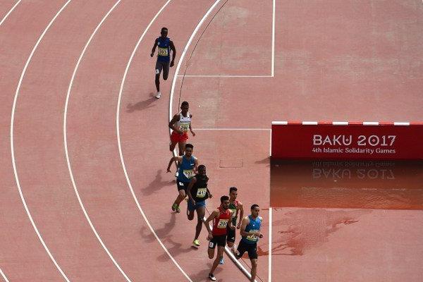 احرز العداء المغربي مصطفى صميلي ذهبية سباق 800 م ضمن دورة العاب التضامن الاسلامي