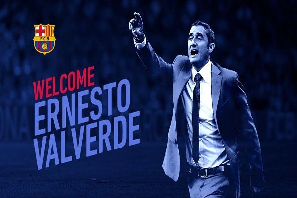 برشلونة يعلن تعيين فالفيردي مدربا خلفا لانريكي