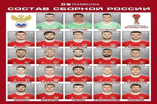 تشرتشيسوف يكشف عن التشكيلة الرسمية لروسيا في كأس القارات