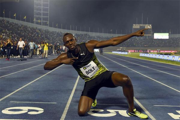 قطع البطل الاولمبي 8 مرات مسافة السباق المفضل لديه بزمن 10،03 ثوان