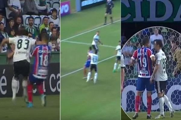 إيقاف لاعب برازيلي 15 مباراة بسبب بصقه واعتدائه على منافسه