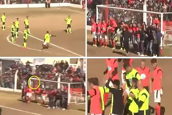 ديبالا يحرز هدفا من ركلة حرة خارقة في مباراة خيرية