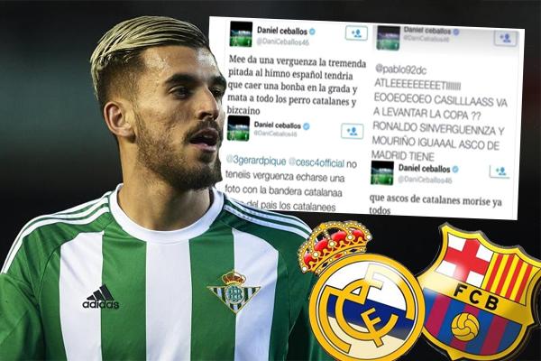 بعد الأخبار التي ربطت سيبايوس بالانتقال لريال مدريد قام لاعب بيتيس بحذف تغريداته والتي كان يمدح خلالها نادي برشلونة