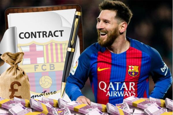 النجم الأرجنتيني ليونيل ميسي صاحب أغلى دخل في العالم بعد تجديد عقده مؤخراً مع نادي برشلونة