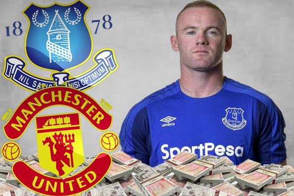 روني سيتحصل من خزينة مانشستر وايفرتون على راتب قدره 300 ألف جنيه إسترليني على أن يتكفل كل نادٍ بمنحه 150 ألف باوند إسترليني