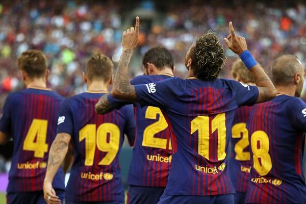 قاد نيمار فريقه برشلونة الاسباني على الفوز على يوفنتوس الايطالي