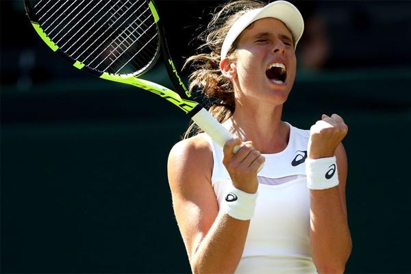 تراجعت البريطانية جوهانا كونتا الى المركز السابع في التصنيف العالمي للاعبات كرة المضرب المحترفات