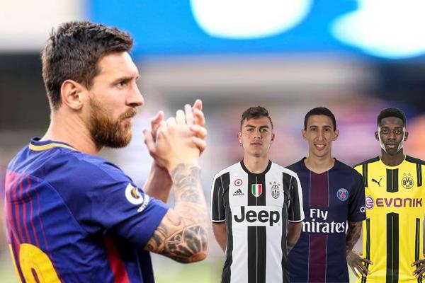 رشح ميسي ثلاثة لاعبين بإمكان النادي المفاضلة بينهم للتعاقد مع أحدهم خلال فترة الانتقالات الصيفية الحالية في حال تأكد رحيل نيمار