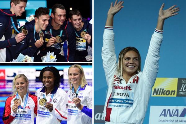أحرزت روسيا 3 ذهبيات في يوم واحد لاول مرة في تاريخ مشاركاتها في بطولة العالم للسباحة