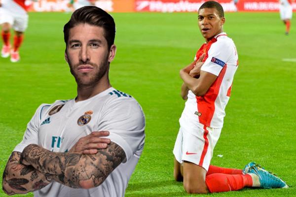 يرغب قائد ريال مدريد سيرخيو راموس في انضمام كيليان مبابي مهاجم موناكو الى الفريق الملكي