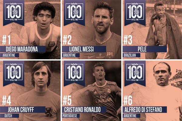 أقرت المجلة بصعوبة الاختيار من قائمة المائة لاعب للأفضل في تاريخ كرة القدم بالنظر إلى كثرة الأسماء اللامعة التي تركت بصماتها على الملاعب
