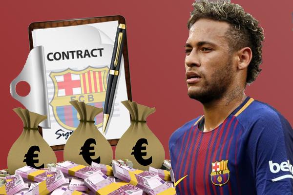 نيمار دا سيلفا جونيور قد يتمكن من دفع قيمة الشرط الجزائي لعقده مع ناديه الحالي برشلونة الإسباني