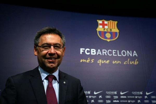رئيس نادي برشلونة الاسباني لكرة القدم جوزيب ماريا بارتوميو
