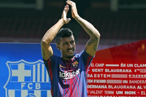 باولينو هو اول لاعب يضمه برشلونة بعد رحيل نيمار والثالث هذا الصيف
