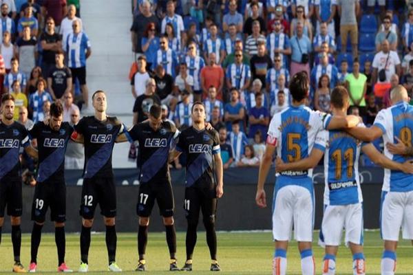 يؤبن المشاركون في الدوري الإسباني لكرة القدم ضحايا هجوم إقليم كتالونيا مع بداية مبارايات الموسم الجديد