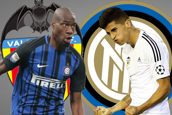يقترب نادي إنتر ميلان الإيطالي من عقد صفقة تبادلية مع نادي فالنسيا الإسباني