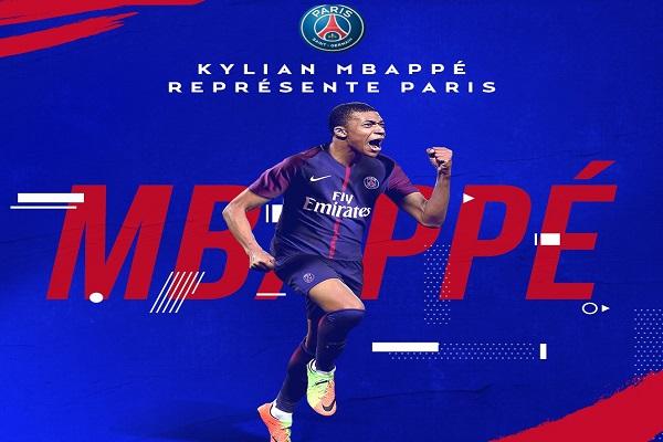 سان جسرمان اعلن الخميس رسميا عن استعارة المهاجم الفرنسي كيليان مبابي من موناكو مع خيار شراء يقدر بـ180 مليون يورو.