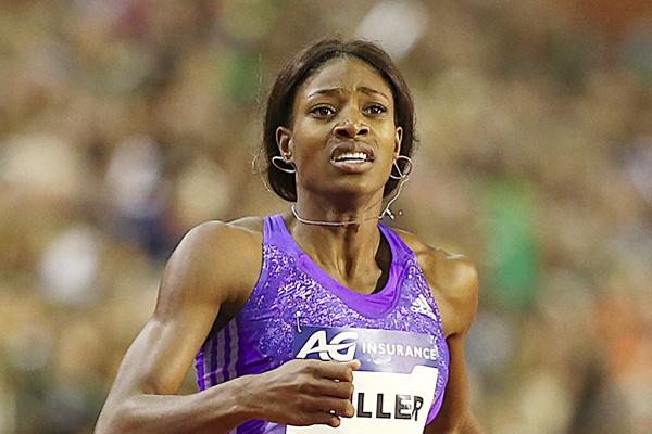 حققت العداءة الباهاماسية شوناي ميلر-اويبو افضل رقم لهذا العام في سباق 400 م خلال مشاركتها في لقاء بروكسل
