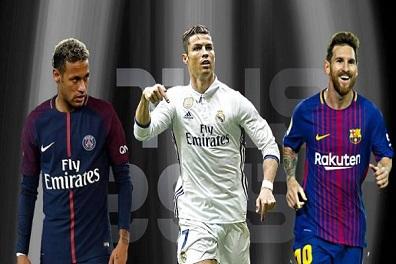 جائزة أفضل لاعب في العالم تنحصر بين رونالدو وميسي ونيمار
