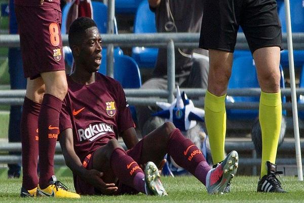 إصابة ديمبلي مكسب لبرشلونة وخسارة لبوروسيا دورتموند
