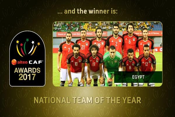 منتخب مصر أفضل منتخب في أفريقيا ٢٠١٧