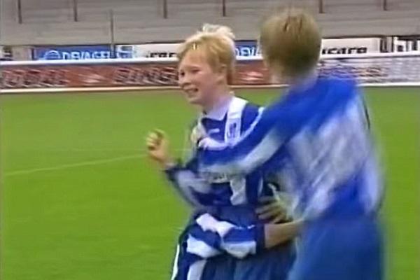 دي بروين عندما كان يبلغ من العمر 12 عاما مع فريق جينت البلجيكي