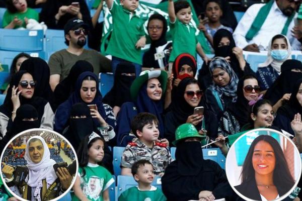مبارة الأهلي والباطن في مدينة جدة تشهد أول حضور للمرأة في الملاعب السعودية