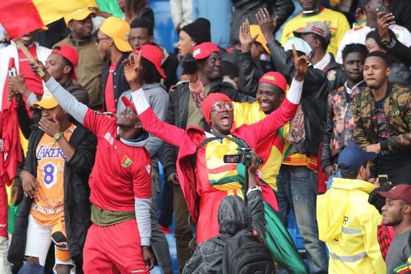 جمهور المنتخبات المشاركة في أولى مباريات (شان) أفريقيا