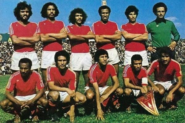 حميد الهزاز رفقة المنتخب المغربي في السبعينيات