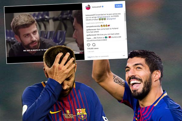 سواريز كتب هذا الطلب تعليقاً على مقطع فيديو يظهر فيه مع المدافع الإسباني في مقابلة لصالح موقع