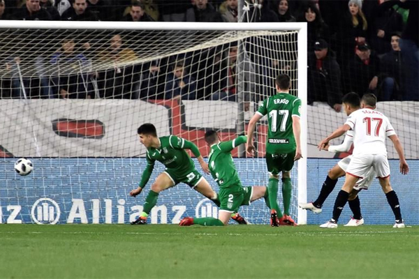 انتهى المشوار السعيد لليغانيس في كأس اسبانيا بعد خسارته امام اشبيلية