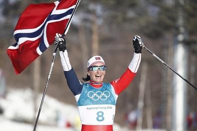 النروجية بيورغن تحرز الميدالية الأخيرة مع رقم قياسي