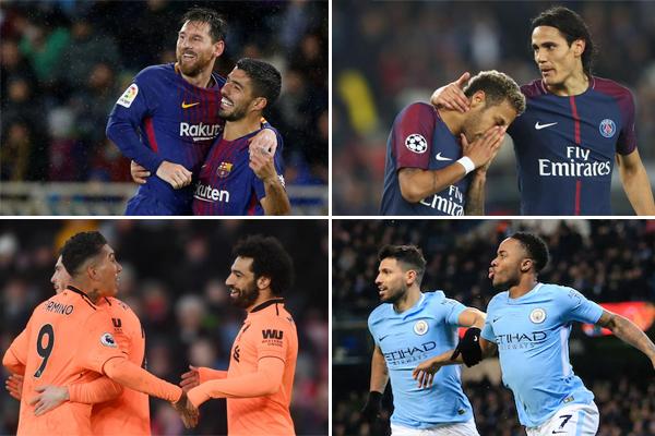 نجح الثنائي الأرجنتيني ليونيل ميسي و الأوروغوياني لويس سواريز مهاجماً برشلونة الإسباني في تشكيل أفضل وأقوى ثنائي هجومي في الدوريات الأوروبية