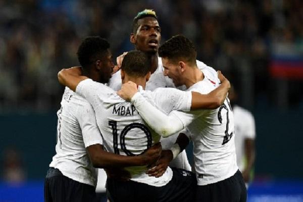 مبابي وبوغبا يقودان فرنسا لتعويض خسارة كولومبيا بثلاثية امام روسيا