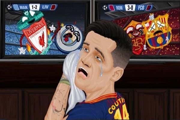 جماهير ليفربول تسخر من كوتينيو بسبب برشلونة