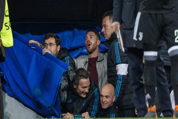 راموس يمنع مشاجرة بين لاعبي ريال مدريد ويوفنتوس
